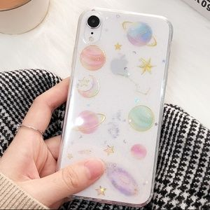 NEW iPhone XS Max Moon, Stars, and Planets Case